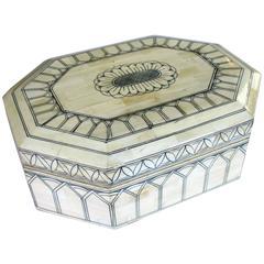 Intricately Decorated Moroccan Bone Box