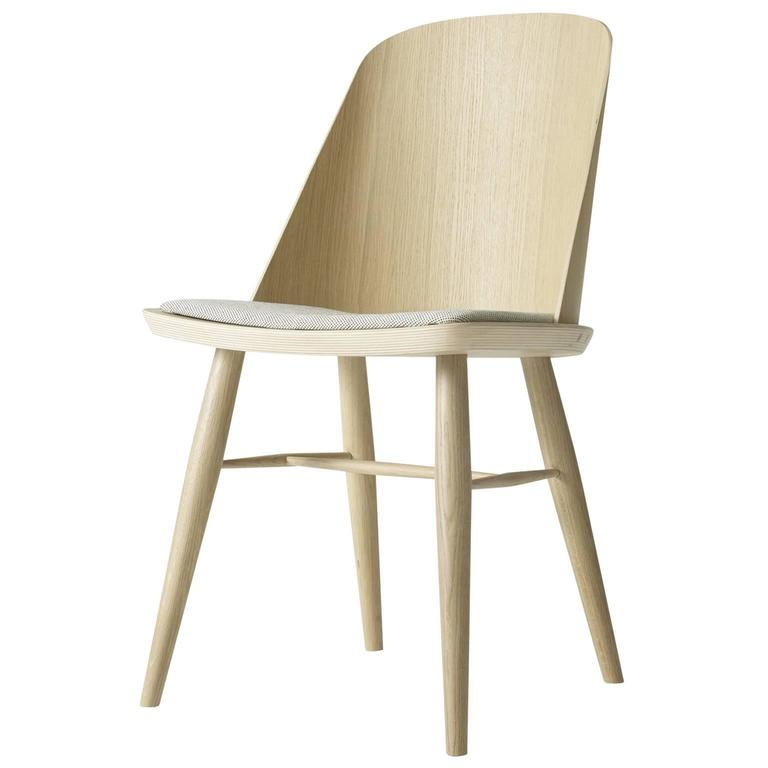 Synnes Dining Chair by Falke Svatun, Natural Oak / Grey Melange 1
