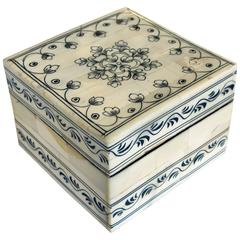 Intricately Decorated Moroccan Bone Box