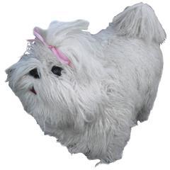 Edna Cataldo Dog Bench, Foot Stool, Extremely Rare Signed Edna Cataldo Dog