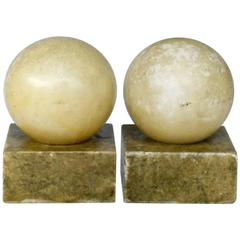 Pair of Alabaster Bookends