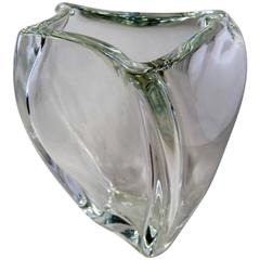 Angelo Mangiarotti Crystal Vase by Colle Val d'Elsa