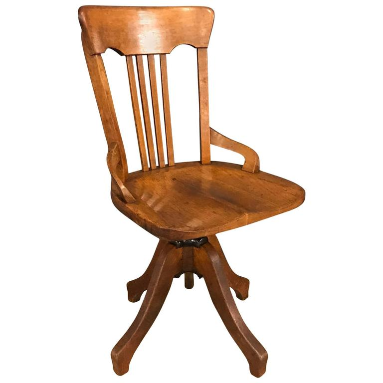 French Antique Swivel Desk Chair At 1stdibs