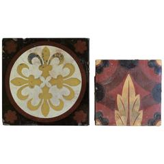 Two 19th Century Ceramic Tiles by William Godwin & Minton Hollins, English