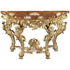 Fine Rococo Giltwood Console Table