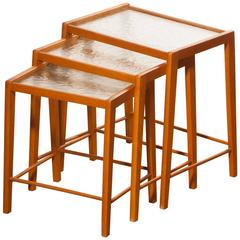 1960s, a Set of Swedish Nesting Tables