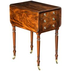 George III Period Mahogany Pembroke Table of Small Proportions