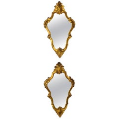 Pair of Early 20th Century Italian Giltwood Mirrors