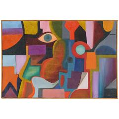 Cubist Polychrome Oil Painting