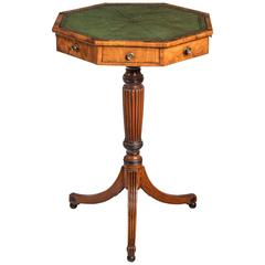 George III Period Mahogany Octagonal Topped Centre Table