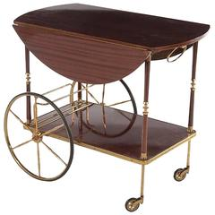 Mahogany and Brass French Service Trolley, circa 1950