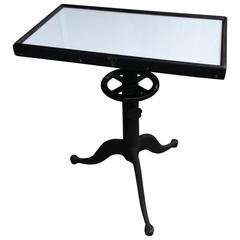 Industrial Optometrist Adjustable Table
