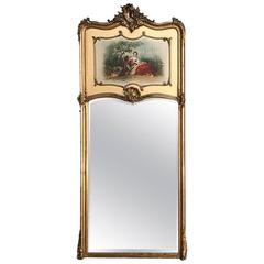 19th Century French Louis XV Giltwood Trumeau