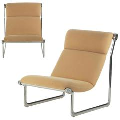 Pair of Hannah Morrison for Knoll Aluminium Sling Lounge Chairs, circa 1970s