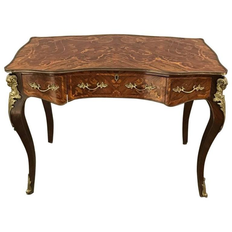 19th Century French Louis Xiv Marquetry Desk For