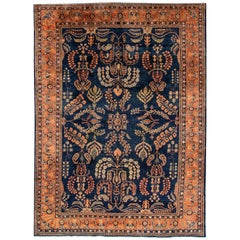 "Beautifully Woven Antique Sarouk Rug 8'7""x11'"