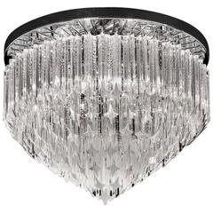 Italian Clear Murano Glass Chandelier in the Style of Venini