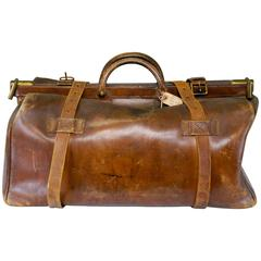 1910 Army and Navy Cooperative Society Leather Gentleman's Travel Bag