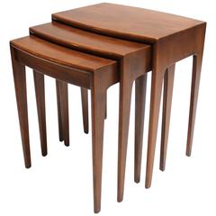 Set of Three Solid Heywood-Wakefield Nesting Tables, 1950s