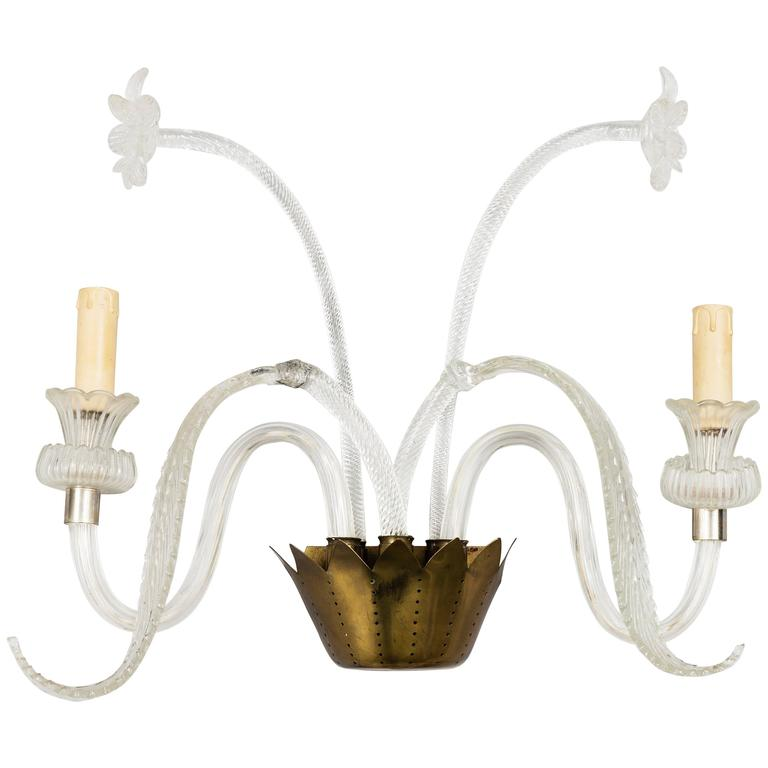 Murano Glass Sconce Wall Light For Sale