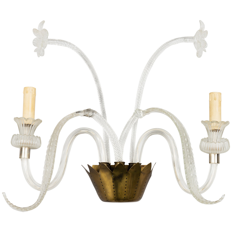 Murano Glass Sconce Wall Light