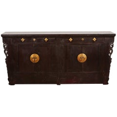 18th Century Two-Drawer Two-Door Narrow Sideboard