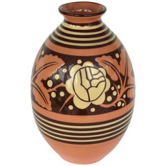 Belgian Art Deco Ceramic Vase by Charles Catteau