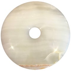Handcrafted Translucent Heavenly Stone Bi Perfect for Gardens