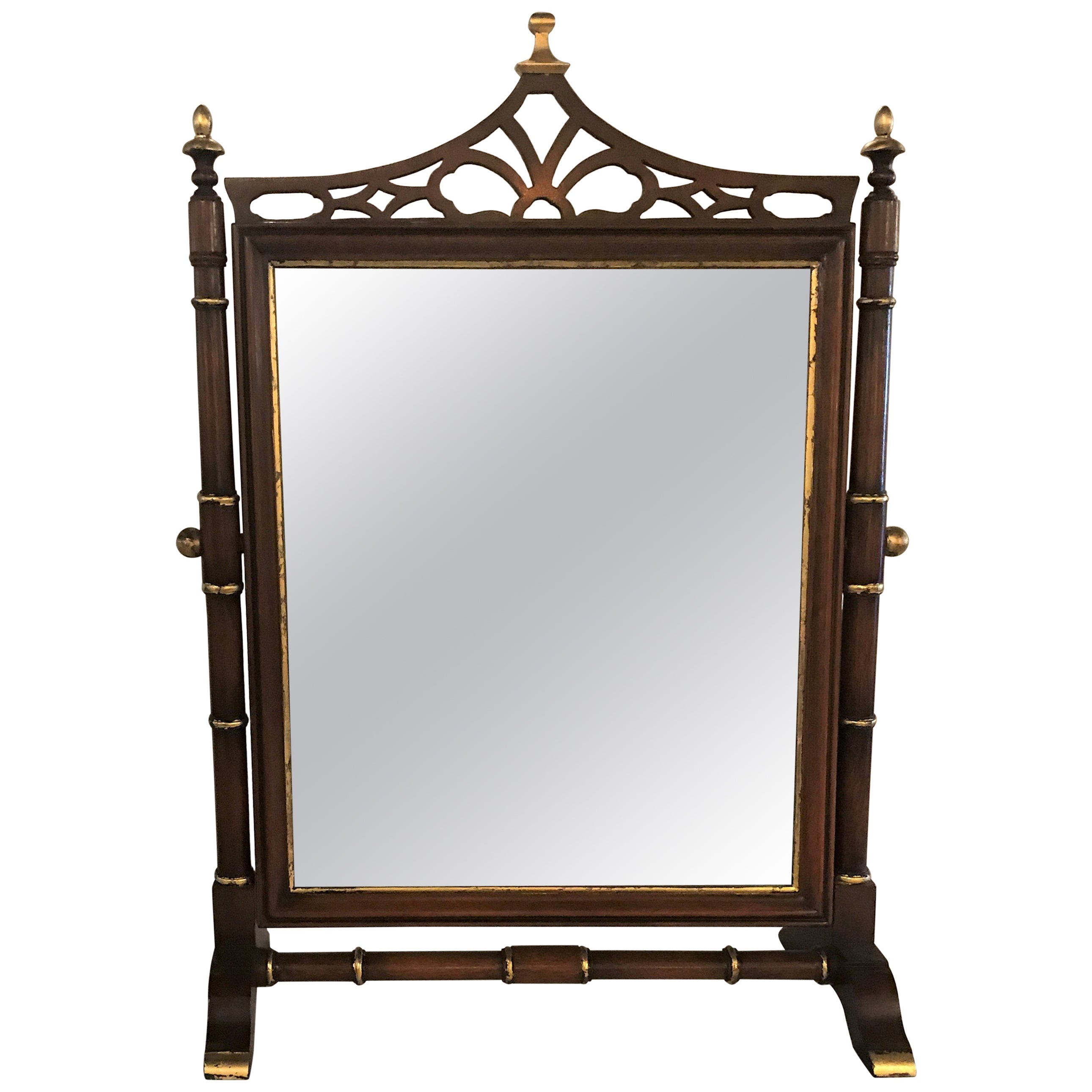 Tilting Federal Style Shaving Mirror Mahogany