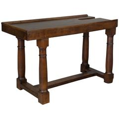 19th Century French Solid Walnut Work Table