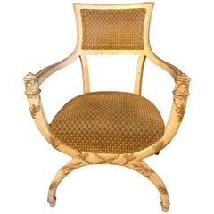 Hollywood Regency Fauteuil Attributed to Maison Jansen in Original Finish