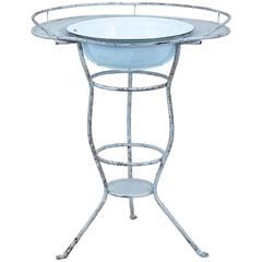 Early 20th Century Industrial Steel Wash Stand