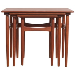 Set of Three Nesting Danish Teak Side Tables