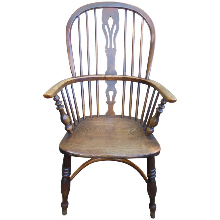 Antique Ash And Elm Windsor Chair By Fred Walker At 1stdibs