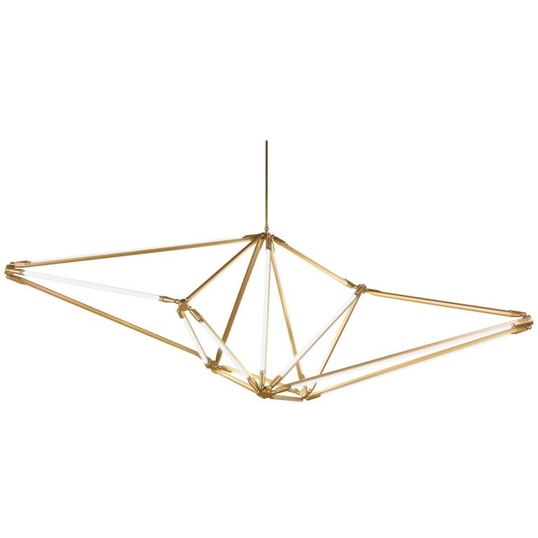 Bec Brittain Shy 01, Customizable Brass Chandelier