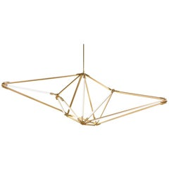 Bec Brittain Shy 01 Brass LED Chandelier