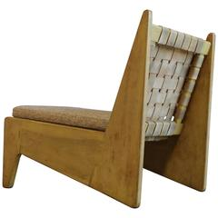 Architectural Modernist Slipper Chair