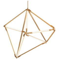 Bec Brittain Shy 02 Brass LED Chandelier