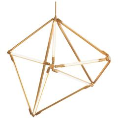Bec Brittain Shy 02, Brass LED Chandelier