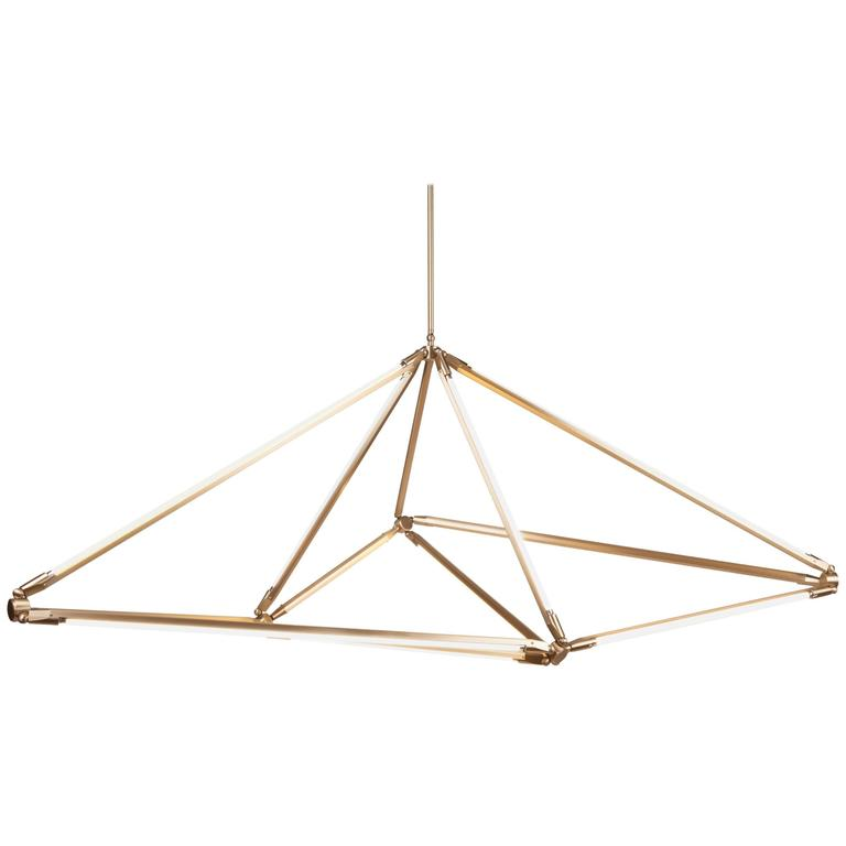 Bec Brittain Shy 08.1, Brass LED Chandelier