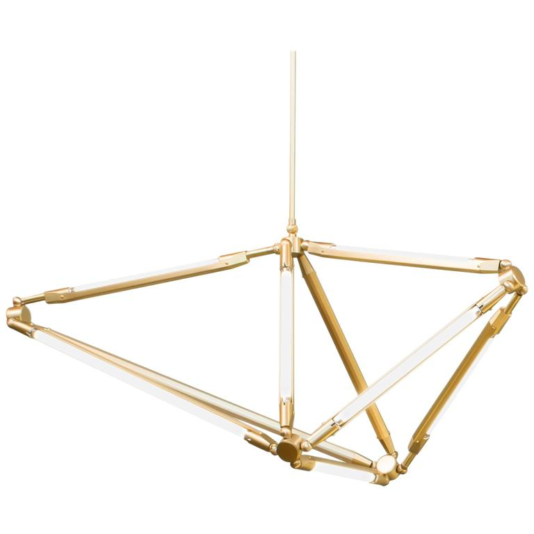 Bec Britain Shy 17, Brass LED Chandelier For Sale