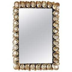 Large Mirror with Abalone Shells