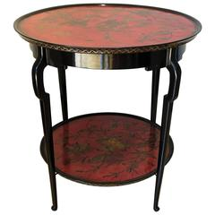 Mid-Century Jansen Two Lacquer Level Top Gueridon Table