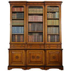 Reformed Gothic Golden Oak Bookcase