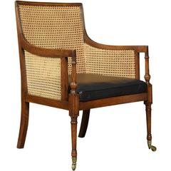 Regency Oak Bergère Armchair