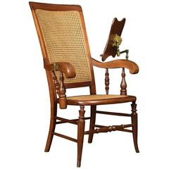 Walnut Framed Reading Armchair