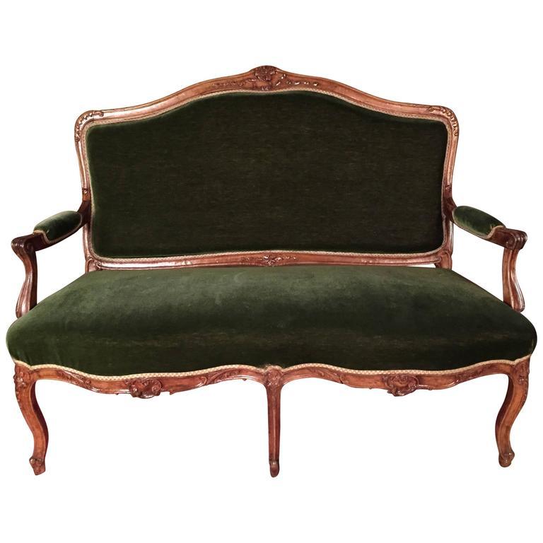 Kanapee Sofa 19th century louis xv sofa kanapee solid walnut for sale at 1stdibs