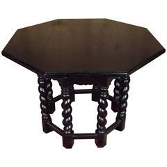 19th Century Neo Renaissance Salon Table Solid Oak