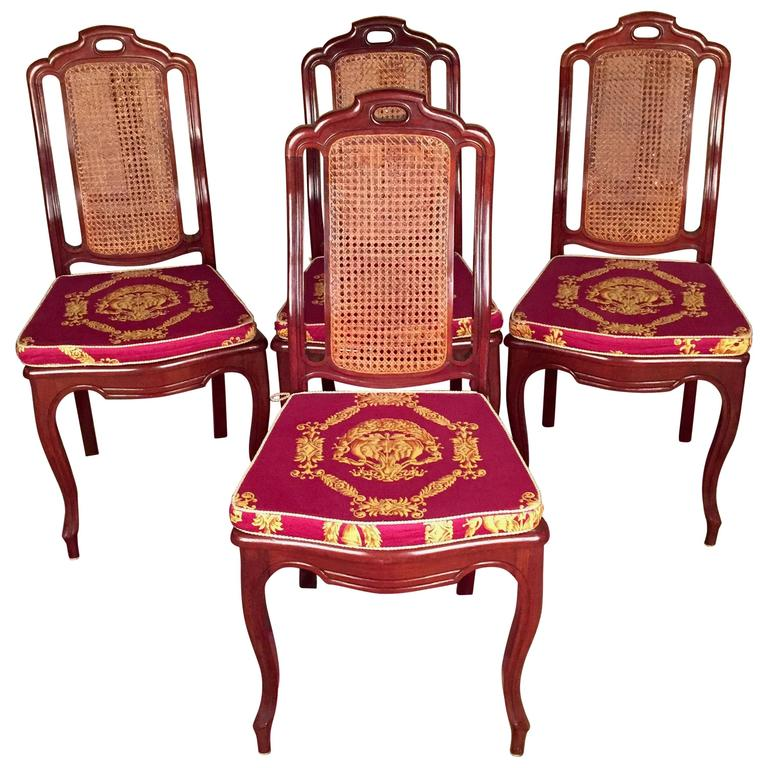 Ordinaire 19th Century Biedermeier Chairs Solid Mahogany