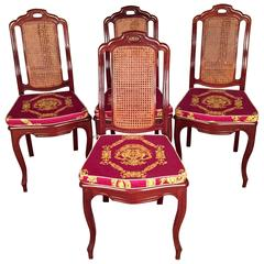 19th Century Biedermeier Chairs Solid Mahogany